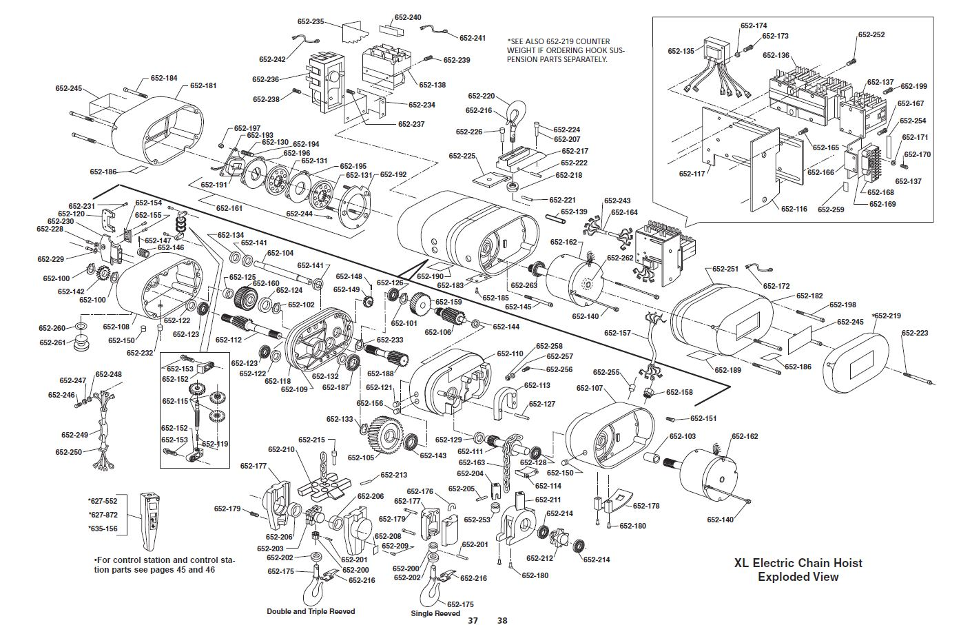 coffing 1 ton wiring diagram budgit xl electric chain hoist parts - otsego crane ramps 1 4 wiring diagram
