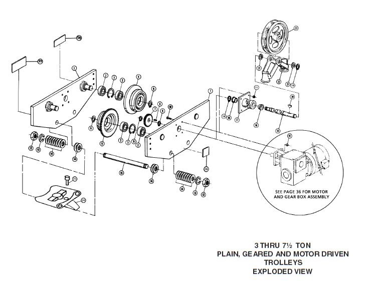 Plain Geared Motor Driven Trolley Parts