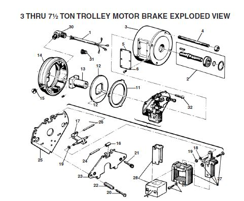 Xl Trolley Motor Brake